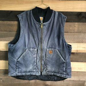 Carhartt Mens Gray Workwear Vest size XXL